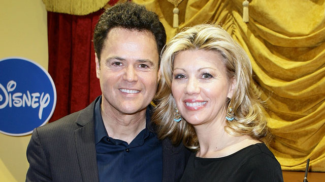 """PHOTO: Entertainer Donny Osmond and his wife Debbie Osmond attend """"Dance Star Mickey"""" at the Mattel Inc. Showroom on February 15, 2010 in New York City."""