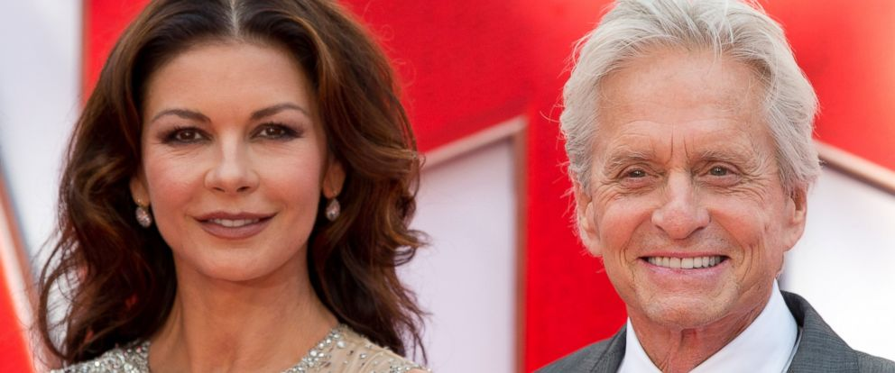 PHOTO: Catherine Zeta-Jones and Michael Douglas attend the European premiere of Marvels Ant-Man at the Odeon Leicester Square on July 8, 2015 in London.