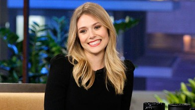 PHOTO: Elizabeth Olsen is pictured during an interview with Jay Leno on The Tonight Show Feb. 29, 2012.