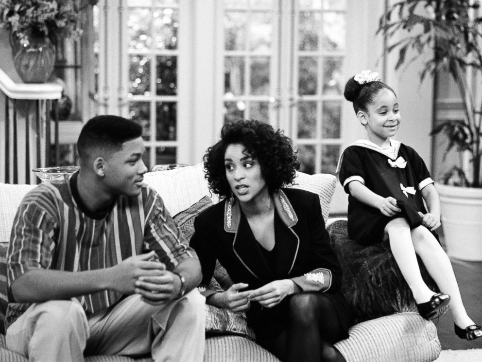 PHOTO: From the left, Will Smith as William Will Smith, Karyn Parsons as Hilary Banks, Raven-Symone as Claudia in The Fresh Prince of Bel-Air.