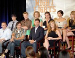 """PHOTO: The cast of """"Friday Night Lights"""" speak during day 13 of the DirecTV portion of NBC Universal 2008 Summer Television Critics Association Press Tour held at the Beverly Hilton hotel on July 20, 2008 in Beverly Hills, Calif."""