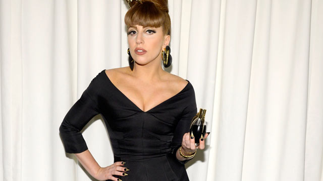"""PHOTO: Lady Gaga attends the Lady Gaga """"Fame"""" eau de parfum launch at Macy's Herald Square on September 14, 2012 in New York City."""
