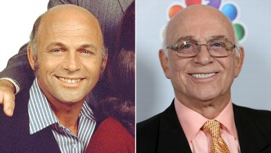 PHOTO: Gavin McLeod, as Murray Slaughter in a publicity portrait for the CBS situation comedy 'Mary Tyler Moore' show California, 1971; Gavin MacLeod attends Betty White's 90th Birthday in Los Angeles, January 8, 2012.