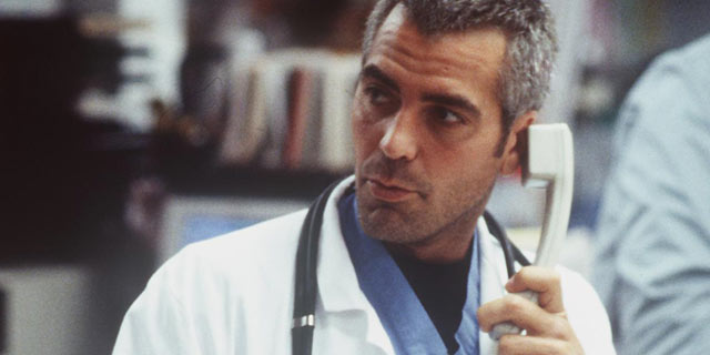 "PHOTO: Goerge Clooney stars on ""ER"" in the episode ""Stuck on You"" on Sept. 21, 1998."