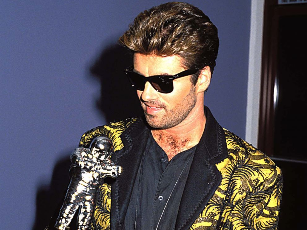 George Michael during the 1989 MTV Video Music Awards, in Los Angeles, Sept. 9, 1989.
