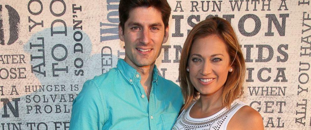 "PHOTO: Ginger Zee and husband Ben Aaron attends Womens Health Hosts Hamptons ""Party Under The Stars"" at Bridgehampton Tennis and Surf Club, August 9, 2014, in Bridgehampton, New York."