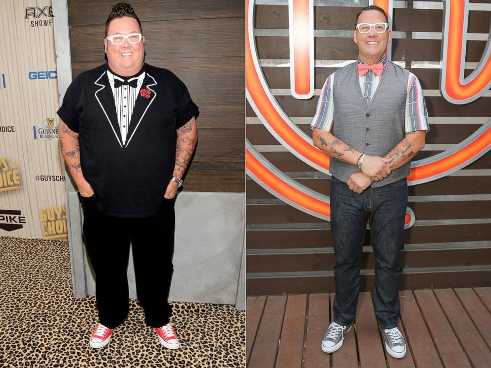 PHOTO: From left, Graham Elliot in 2013 and 2015.
