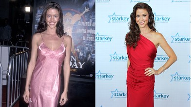 "PHOTO: Actress Shannon Elizabeth attends the ""Any Given Sunday"" Westwood Premiere on December 16, 1999 at the Mann Village Theatre in Westwood, Calif. and right, on the red carpet before the 2012 Starkey Hearing Foundation's ""So the World May Hear Awards"