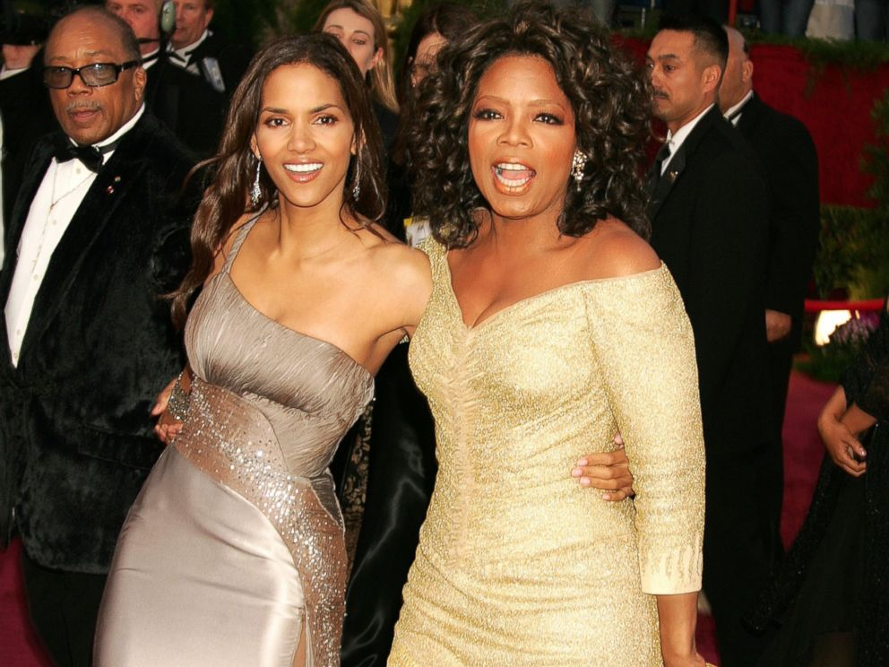 PHOTO: Halle Berry and Oprah Winfrey attend the 77th Annual Academy Awards at the Kodak Theatre in Santa Monica, Calif., Feb. 27, 2005.