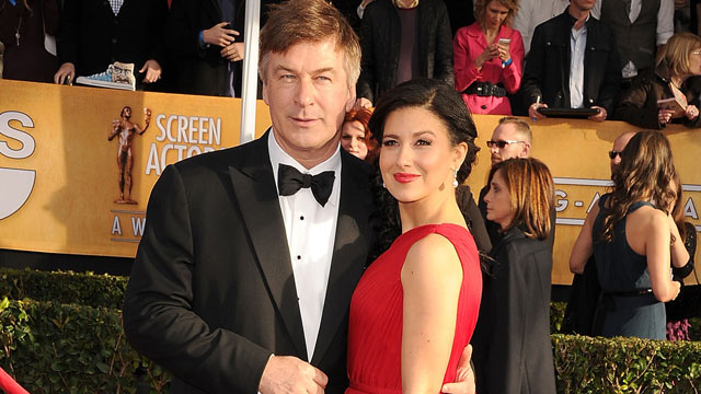 PHOTO: Alec Baldwin and wife, Hilaria, arrives at the 19th Annual Screen Actors Guild Awards at The Shrine Auditorium, Jan. 27, 2013 in Los Angeles.
