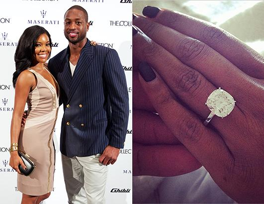 Gabrielle Union and Dwyane Wade Are Engaged Picture Hollywoods