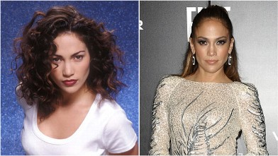 PHOTO: Jennifer Lopez is seen in these 1993 and 2011 file photos.