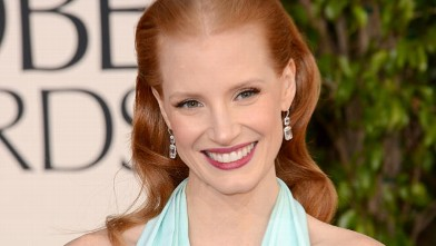 PHOTO: Jessica Chastain arrives at the 70th Annual Golden Globe Awards, Jan. 13, 2013, in Beverly Hills, Calif.