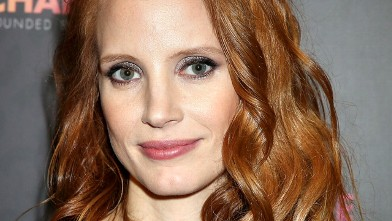 "PHOTO: Jessica Chastain arrives at the Royal Box photo wall ahead of the ""Chime For Change: The Sound Of Change Live"" Concert at Twickenham Stadium, June 1, 2013 in London."
