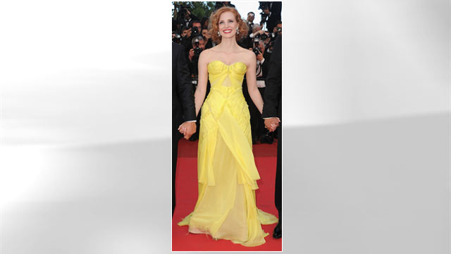 """PHOTO: Jessica Chastain attends """"The Tree Of Life"""" Premiere during the 64th Annual Cannes Film Festival at Palais des Festivals, May 16, 2011 in Cannes, France."""