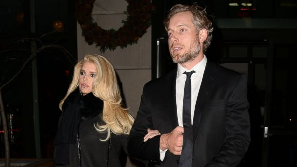 PHOTO: Jessica Simpson and Eric Johnson are seen walking in Soho on Dec. 3, 2013 in New York City.