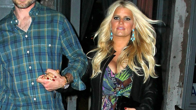 PHOTO: Jessica Simpson and Eric Johnson seen on September 10, 2012 in New York City.