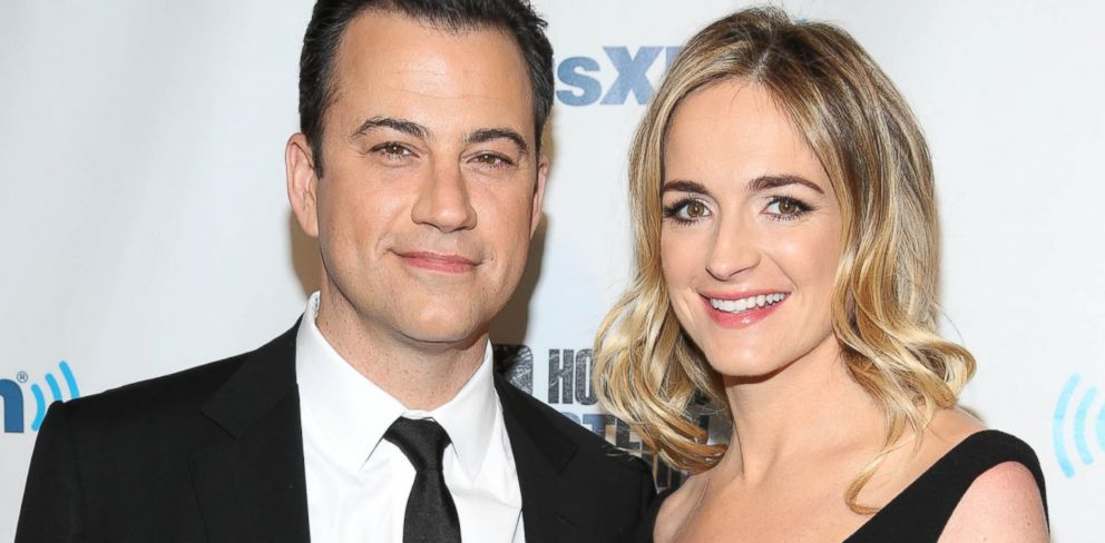 "PHOTO: Jimmy Kimmel and Molly McNearney attend SiriusXMs ""Howard Stern Birthday Bash"" at Hammerstein Ballroom, Jan. 31, 2014 in New York City."