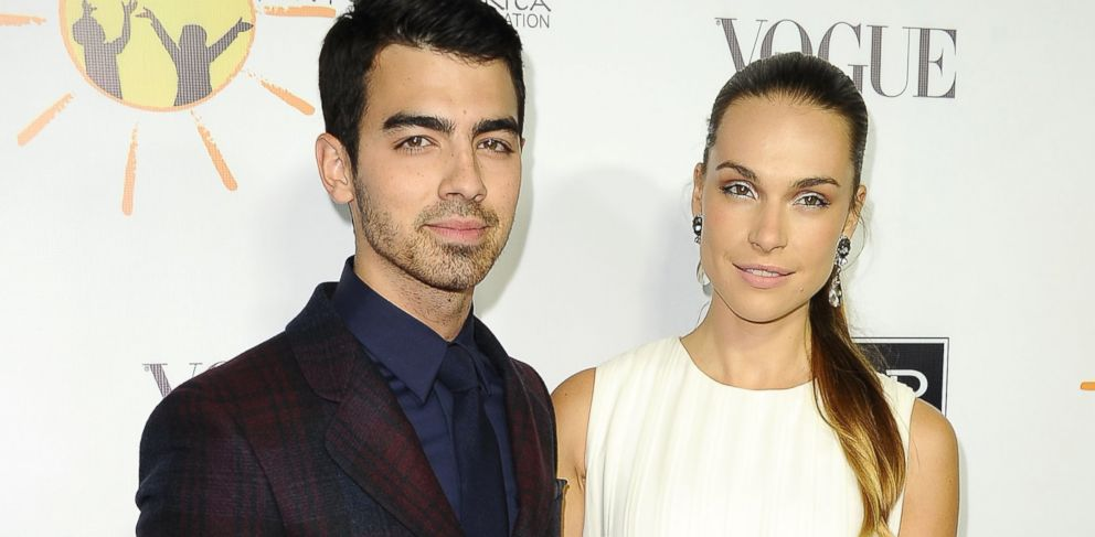 PHOTO: Singer Joe Jonas and Blanda Eggenschwiler attend the Dream For Future Africa Foundation gala at Spago on October 24, 2013 in Beverly Hills, Calif.