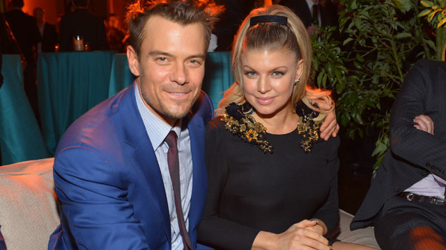 """PHOTO: Actor Josh Duhamel, left, and actress/singer Fergie attend the premiere of Relativity Media's """"Safe Haven"""" after party at The Terrace At Hollywood & Highland, Feb. 5, 2013, in Hollywood, Calif."""