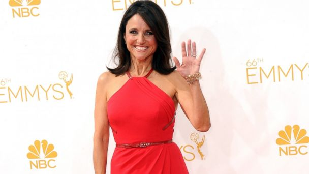 PHOTO: Actress Julia Louise Dreyfus arrives for the 66th Annual Primetime Emmy Awards held at Nokia Theatre L.A. Live on August 25, 2014 in Los Angeles, California.
