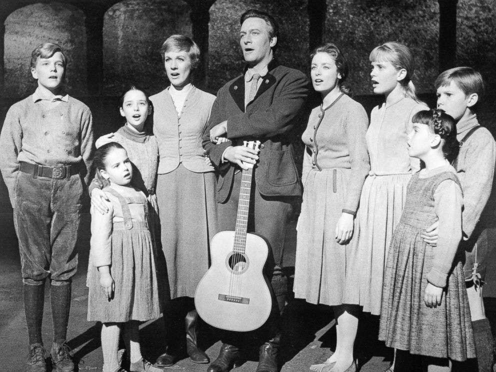 PHOTO: The actors playing members of the Von Trapp family in a promotional portrait for The Sound Of Music, directed by Robert Wise, 1965.