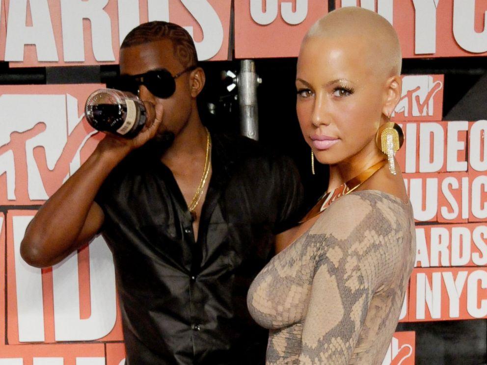 Kanye West Holding Grammys