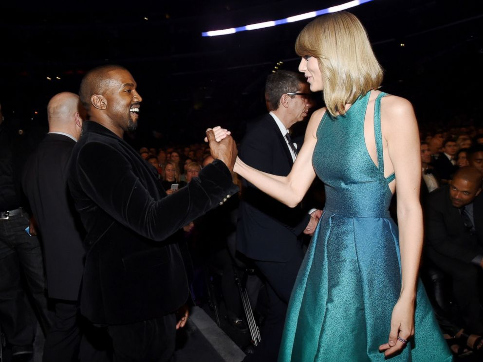 PHOTO: Recording Artists Kanye West and Taylor Swift attend The 57th Annual GRAMMY Awards on Feb. 8, 2015, in Los Angeles, Calif.