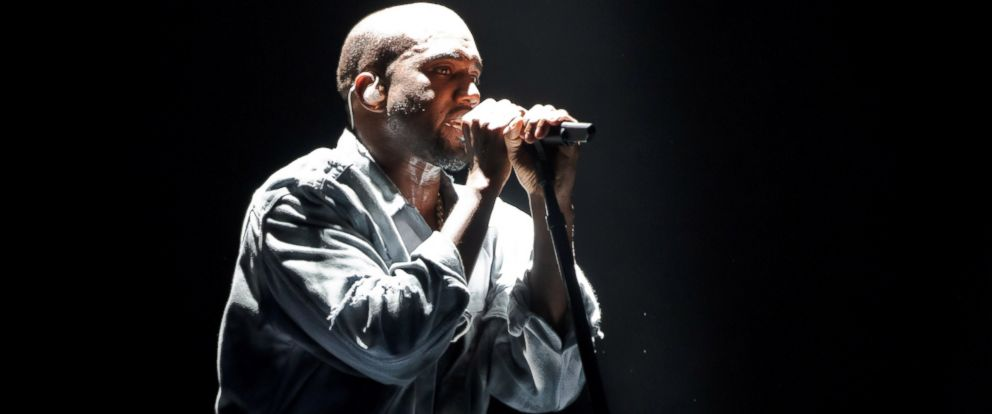 PHOTO: Kanye West performs on stage at Wireless Festival at Finsbury Park on July 5, 2014 in London.