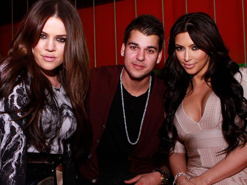 PHOTO: Khloe Kardashian, Rob Kardashian and Kim Kardashian pose at Jet at The Mirage Hotel and Casino in Las Vegas, March 18, 2011.