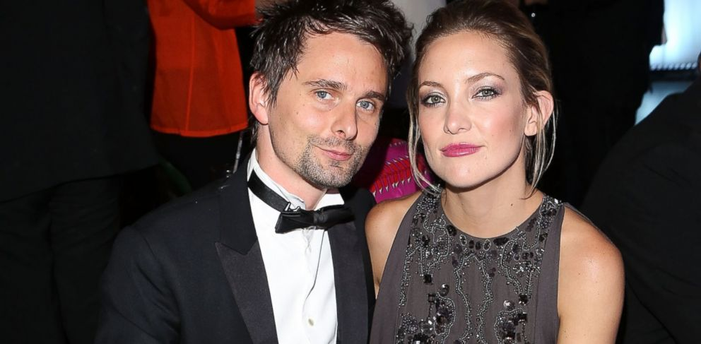 PHOTO: Matt Bellamy and Kate Hudson attend the Novak Djokovic Foundation inaugural London gala dinner at The Roundhouse on July 8, 2013 in London, England.