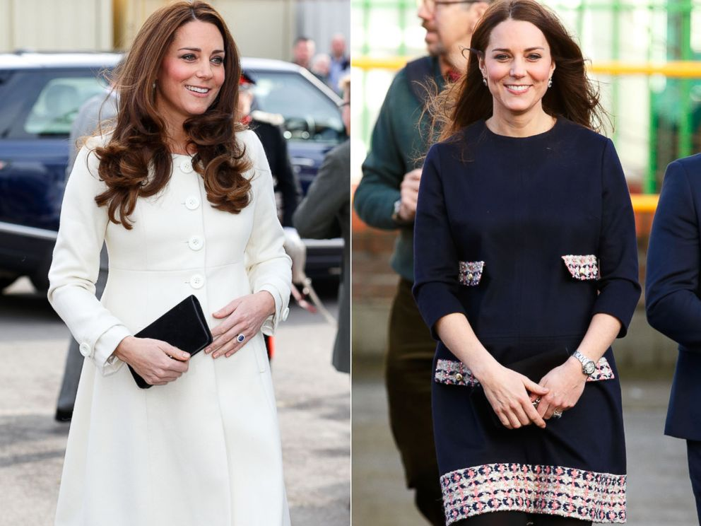 PHOTO: Catherine, Duchess of Cambridge, seen left in this March 12, 2015 photo and right in this Jan. 15, 2015 file photo.
