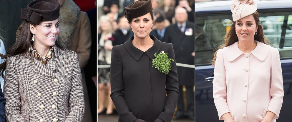 PHOTO: Catherine, Duchess of Cambridge, is seen in these file photos from Dec. 25, 2014, March 17, 2015, and March 9, 2015.