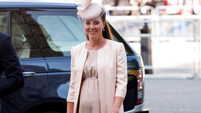 PHOTO: Catherine, Duchess of Cambridge attends a service marking the 60th anniversary of the Queens coronation at Westminster Abbey, June 4, 2013 in London.
