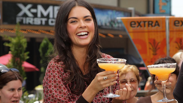 PHOTO: Katie Lee visits at The Grove, June 21, 2011 in Los Angeles, California.