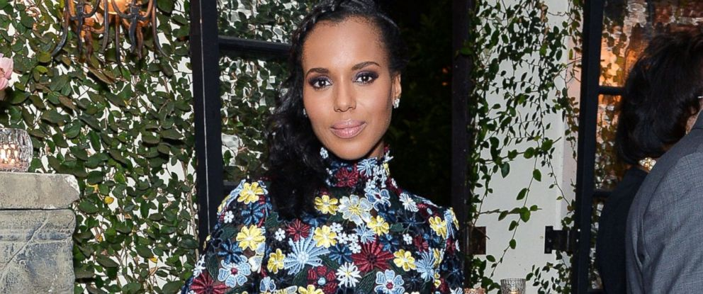 PHOTO: Kerry Washington attends dinner celebrating Kerry Washington hosted by ELLE at A.O.C. in Los Angeles on April 2, 2016.
