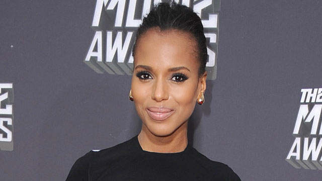 PHOTO: Kerry Washington arrives at the 2013 MTV Movie Awards at Sony Pictures Studios, April 14, 2013, in Culver City, Calif.