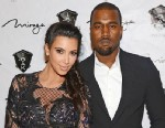 PHOTO: Kim Kardashian and Kanye West arrive for the New Years Eve countdown at 1 OAK Nightclub at The Mirage Hotel & Casino on Dec. 31, 2012 in Las Vegas.
