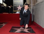 PHOTO: Comedian and television host Jimmy Kimmel is honored with a star on the Hollywood Walk of Fame on Jan. 25, 2013 in Hollywood, Calif.