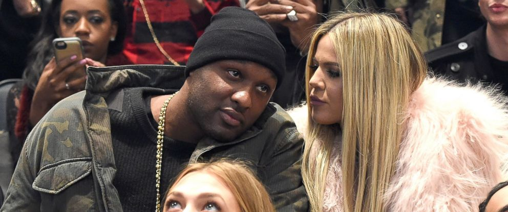 bef8d0ca8e4b PHOTO  Lamar Odom and Khloe Kardashian attend Kanye Wests fashion show at  Madison Square Garden