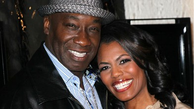 """PHOTO: Actor Michael Clarke Duncan (L) and TV personality Omarosa Manigault-Stallworth attend the premiere of Relativity Media's """"Act of Valor"""" at ArcLight Cinemas on February 13, 2012 in Hollywood, California."""