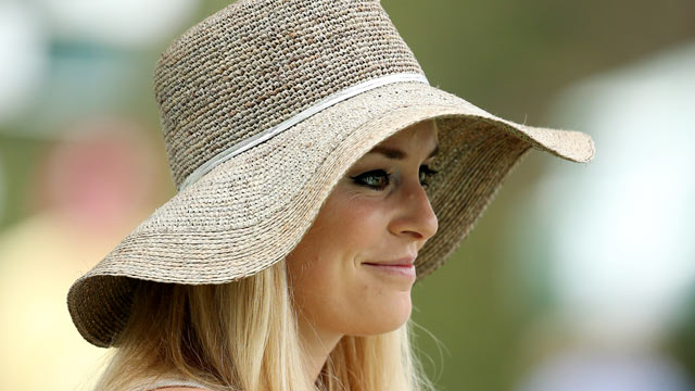 PHOTO: Skier Lindsey Vonn attends the first round of the 2013 Masters Tournament at Augusta National Golf Club, April 11, 2013, in Augusta, Georgia.