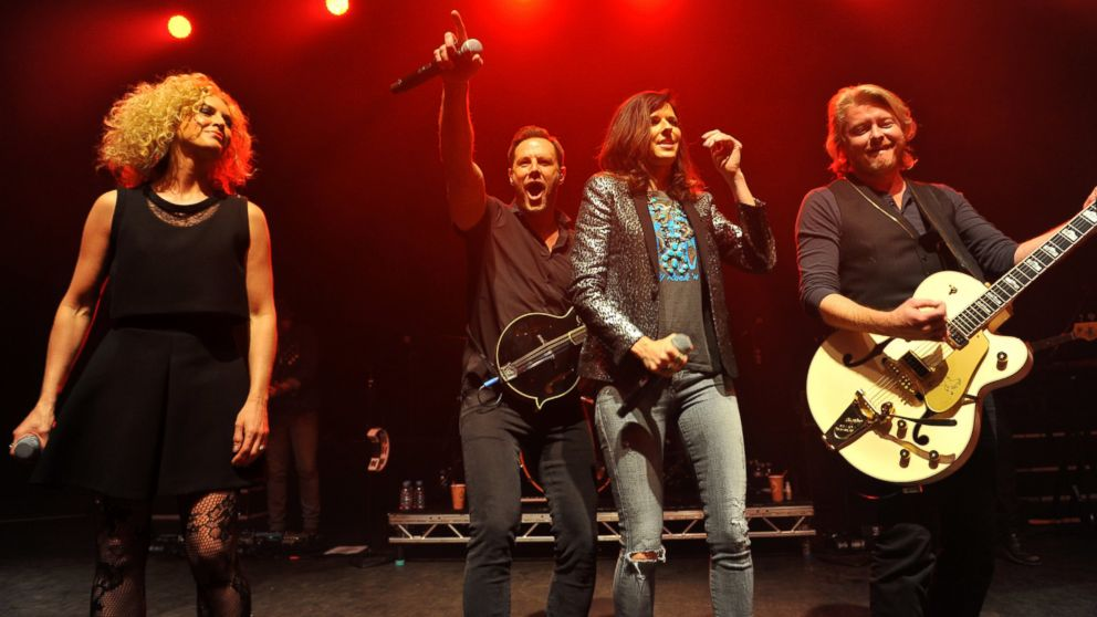 Kimberly Schlapman, Jimi Westbrook, Karen Fairchild and Phillip Sweet of Little Big Town perform on stage at Shepherds Bush Empire on Feb. 10, 2015 in London, United Kingdom.