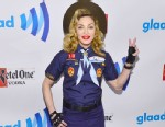 PHOTO: Madonna poses backstage at the 24th Annual GLAAD Media Awards on March 16, 2013 in New York City.