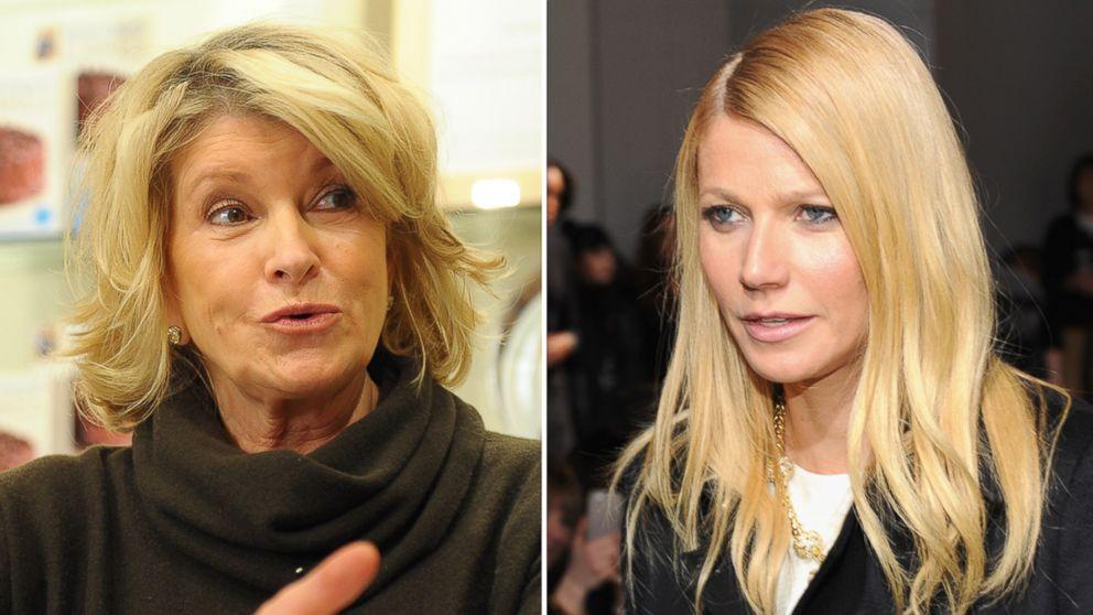 Martha Stewart appears in New York City Nov. 11, 2013, and Gwyneth Paltrow attends Fashion Week Feb. 13, 2014, in New York City.