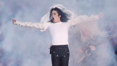 PHOTO: Michael Jackson performs at the Super Bowl XXVII Halftime show at the Rose Bowl on January 31, 1993 in Pasadena, California.