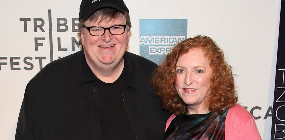 """PHOTO: Michael Moore and Kathleen Glynn attend the premiere of """"Zen of Bennett"""" during the 2012 Tribeca Film Festival at BMCC Tribeca PAC on April 23, 2012 in New York City."""