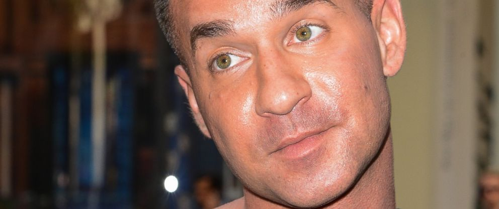 PHOTO: Television personality Mike Sorrentino leaves the Rockefeller Center Studios on Sept. 4, 2014 in New York City.
