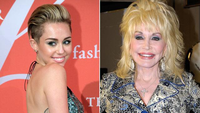 PHOTO:Miley Cyrus Dolly Parton
