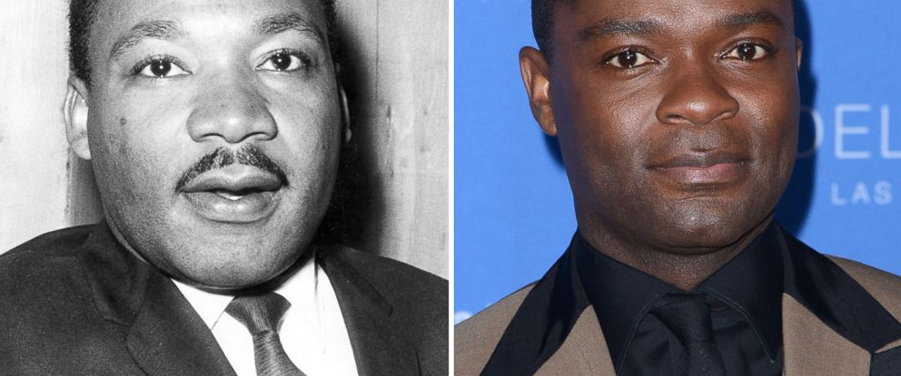 PHOTO: Martin Luther King Jr., seen left in this 1968 file photo and actor David Oyelowo, seen right in this Feb. 1, 2015 photo.
